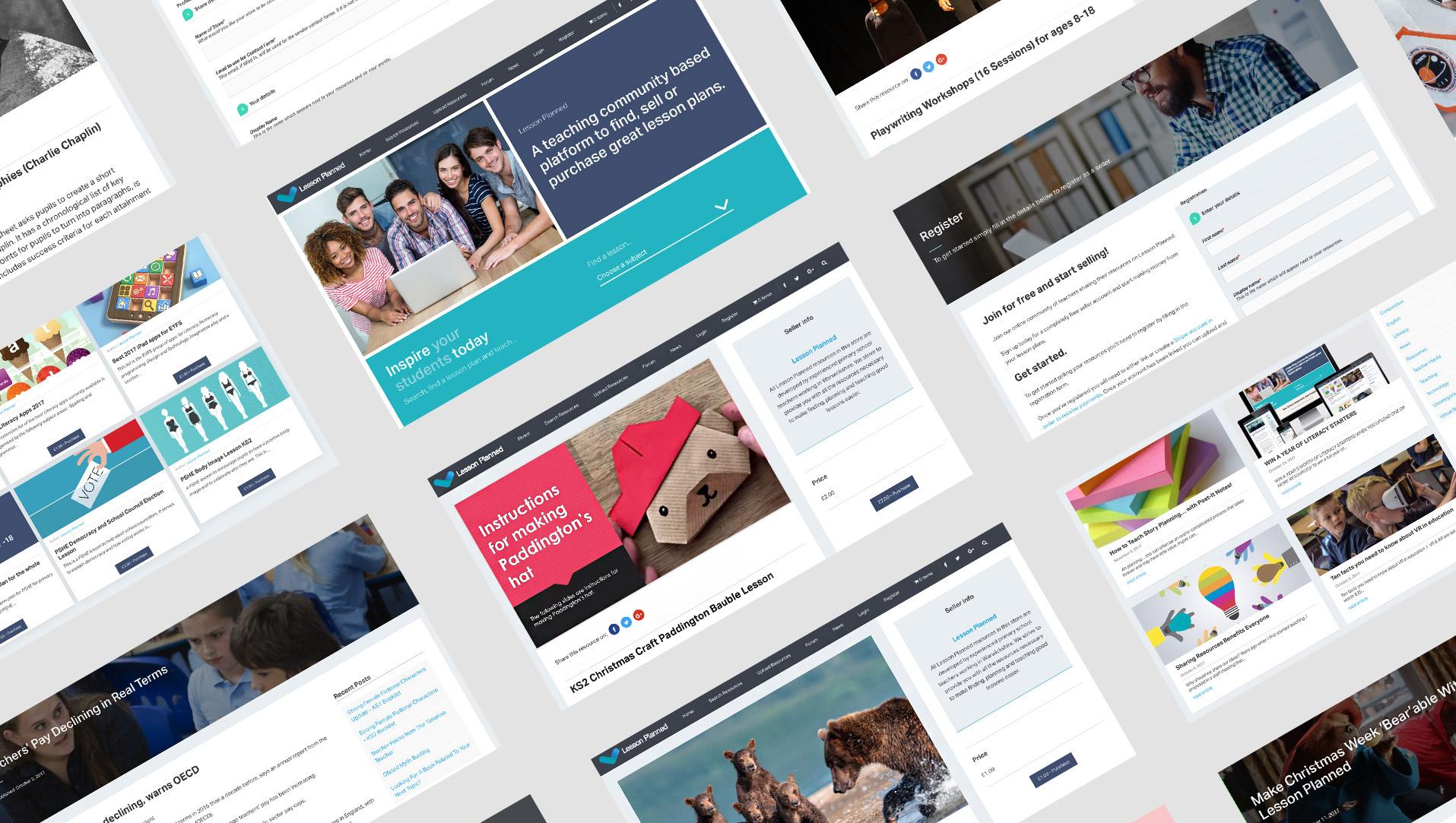 lesson planned website design