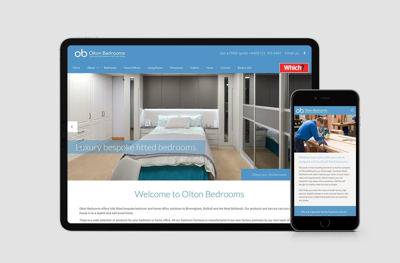 Olton Bedrooms website design